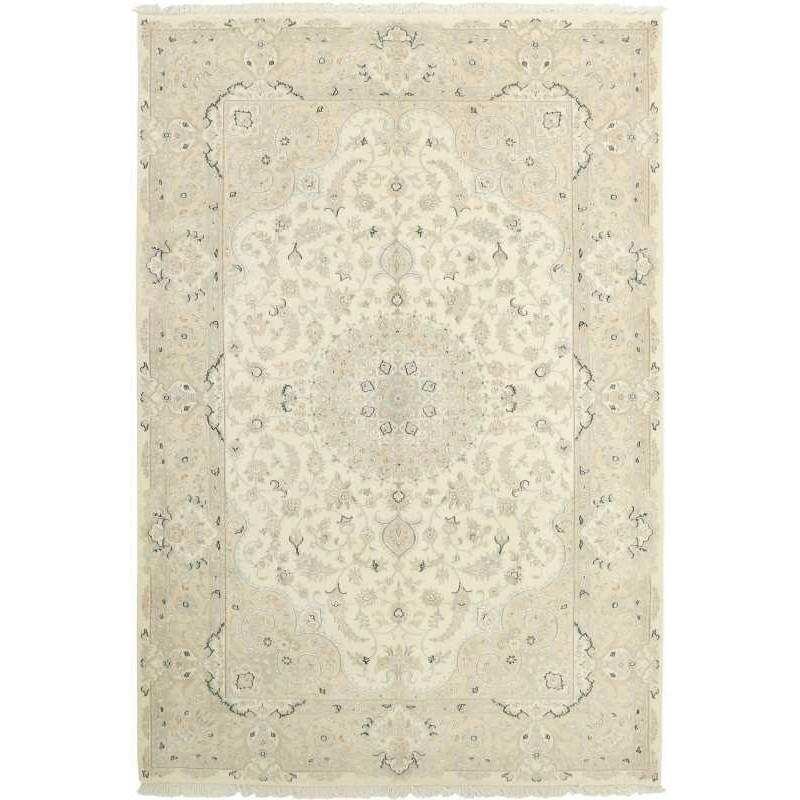 tappeto persia nain fine con seta cm 204x303