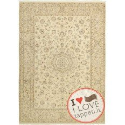 tappeto persia nain fine con seta cm 200x302