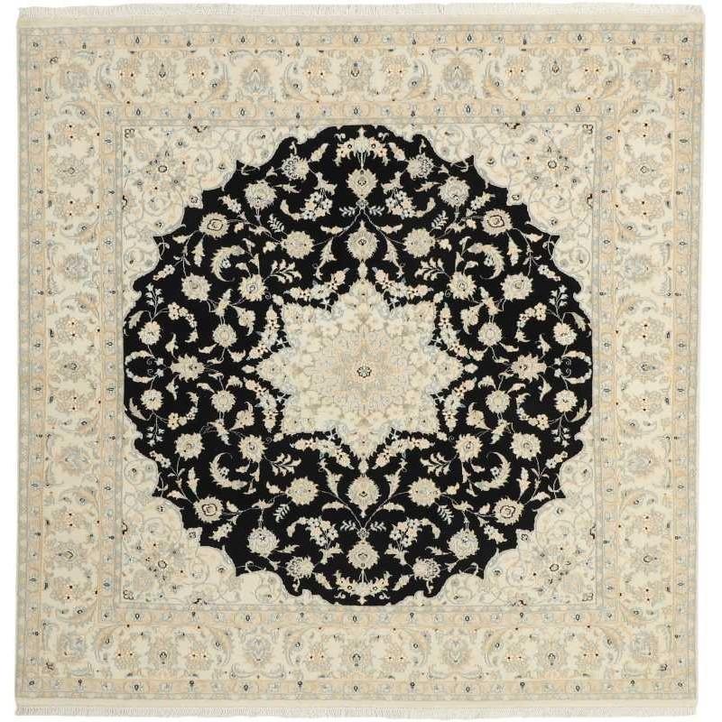 tappeto persia nain fine con seta cm 196x208