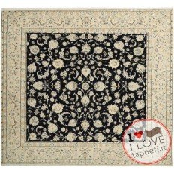 tappeto persia nain fine con seta cm 296x292