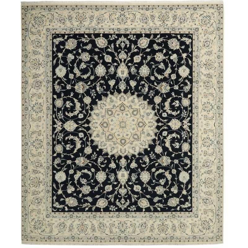tappeto persia nain fine con seta cm 250x307