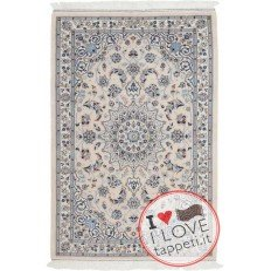 tappeto persia nain fine con seta cm 115x180