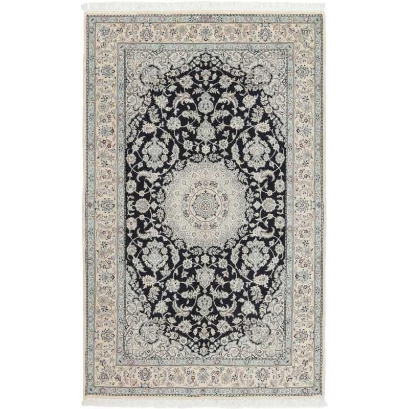 tappeto persia nain fine con seta cm 153x237