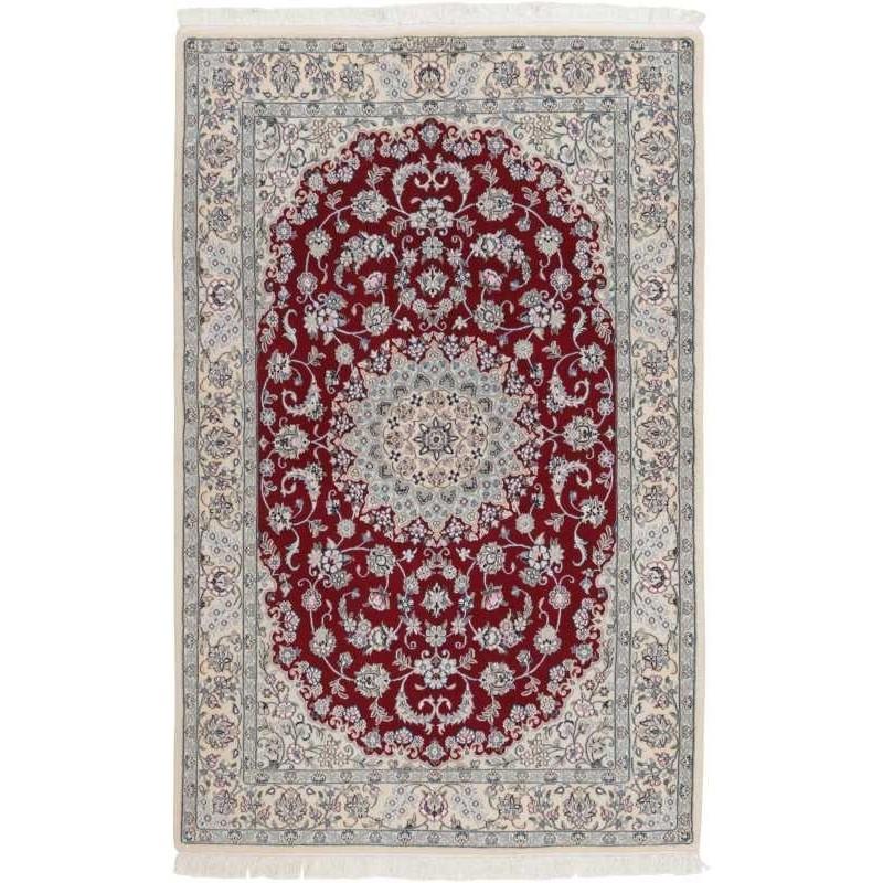 tappeto persia nain fine con seta cm 157x235
