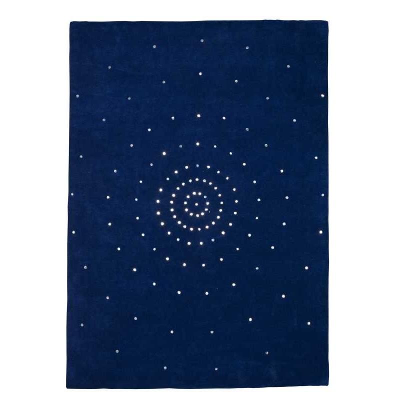 Tappeto moderno Skye blue Renato Balestra cm.140x200 in offerta