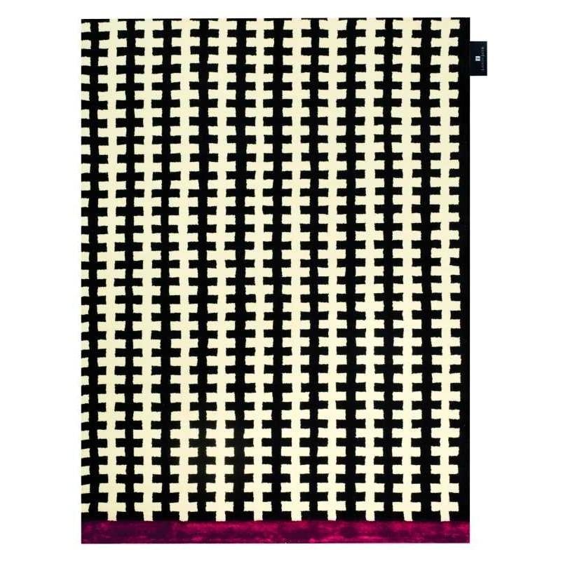 Tappeto moderno Wallflor Riff Black White Lauren Jacob