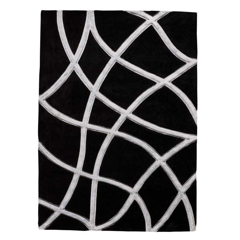Tappeto moderno Wallflor Echo Black Lauren Jacob