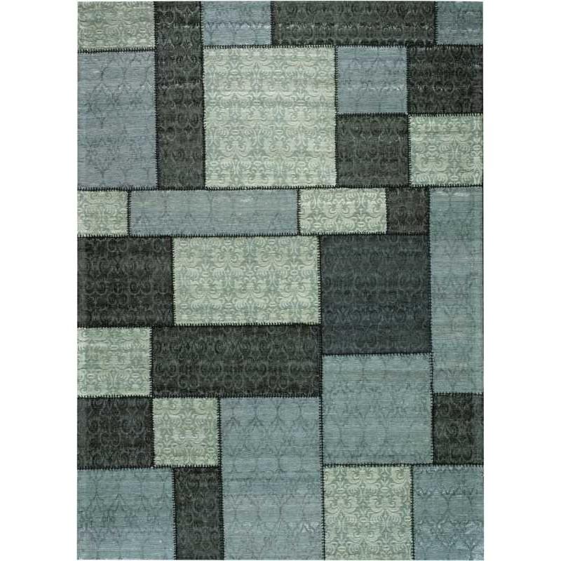 Carpet moderno Wallflor Patchwork 1 Dark Grey Lauren Jacob