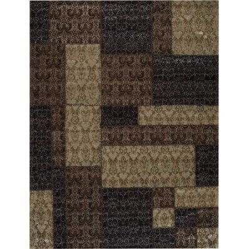 Carpet moderno Wallflor Patchwork 8 Brown Lauren Jacob