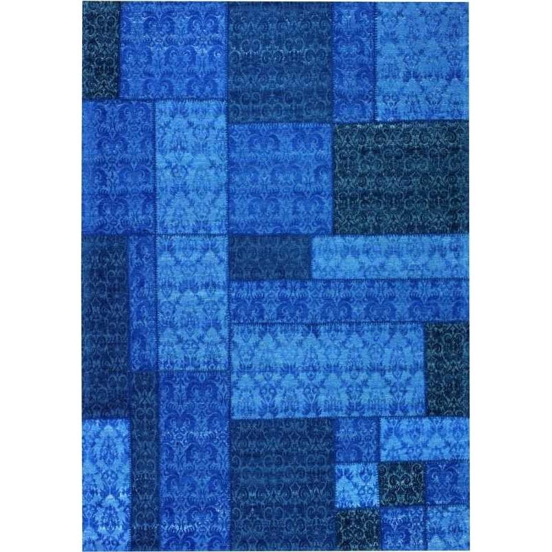 Carpet moderno Wallflor Patchwork 13 Blue Lauren Jacob