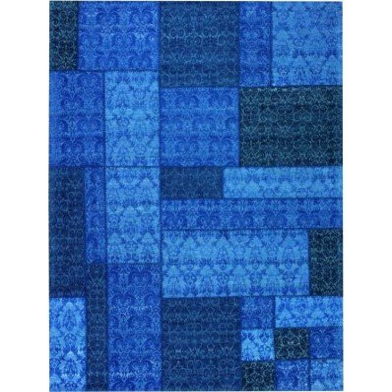 Tappeto moderno Wallflor Patchwork 13 Blue Lauren Jacob