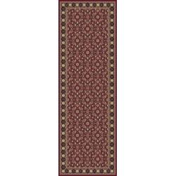 Tappeto persiano Tabriz classico passatoia rosso senza medaglione 12176