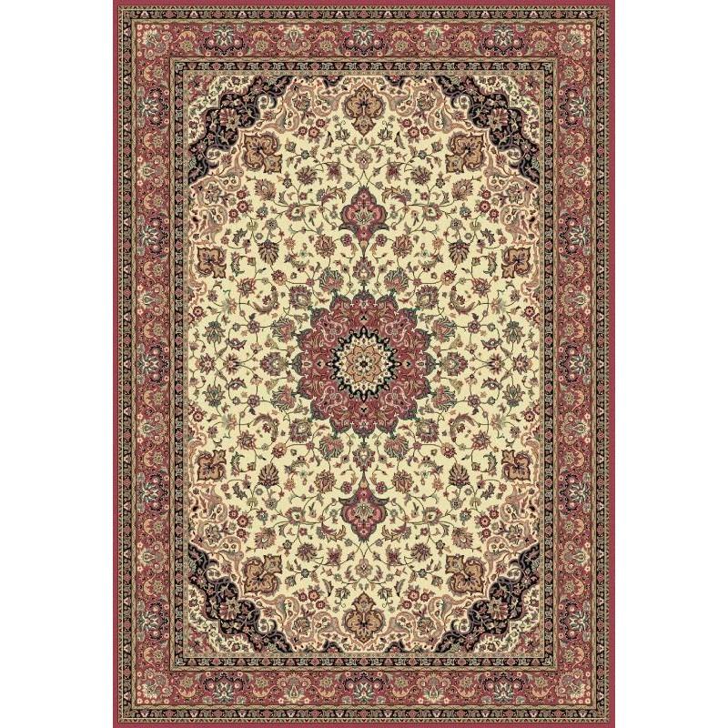 Carpet classico Isfahan classico medaglione crema-rosa 12217