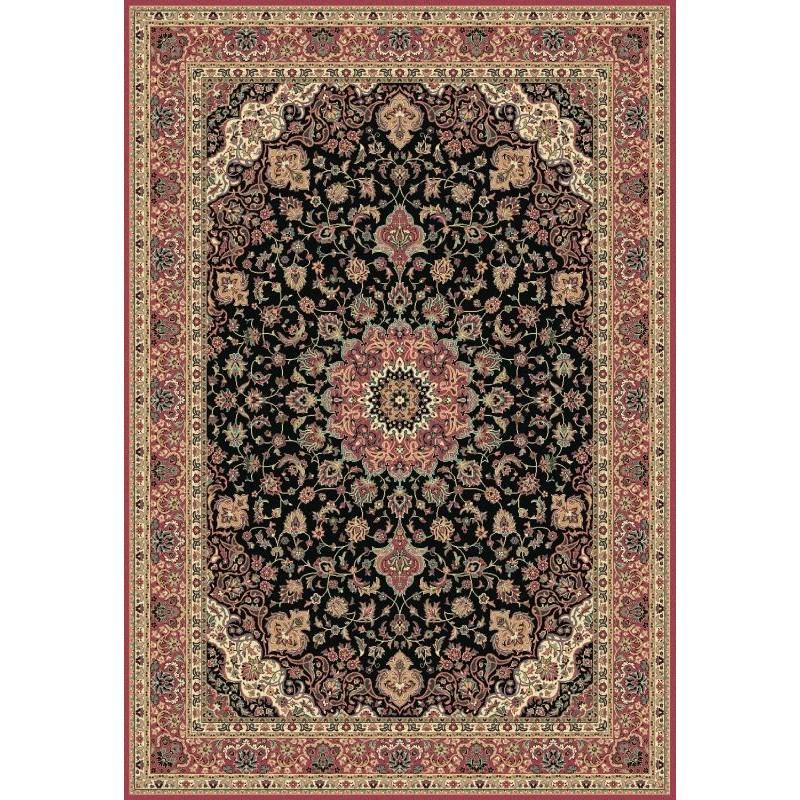 Tappeto persiano Isfahan classico medaglione marine 12217