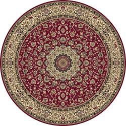 Carpet classico Isfahan classico rotondo medaglione rosso 12217