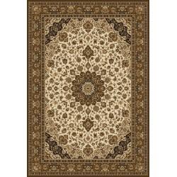 Carpet classico Isfahan classico medaglione crema-marrone 12217
