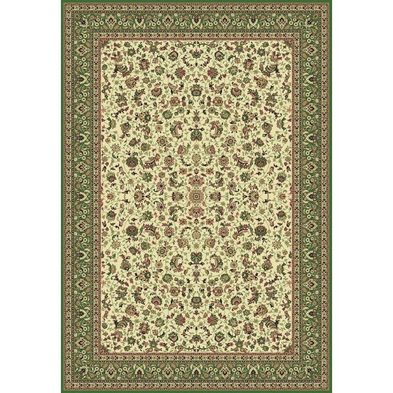 Tappeto persiano Tabriz classico medaglione crema-verde 12311