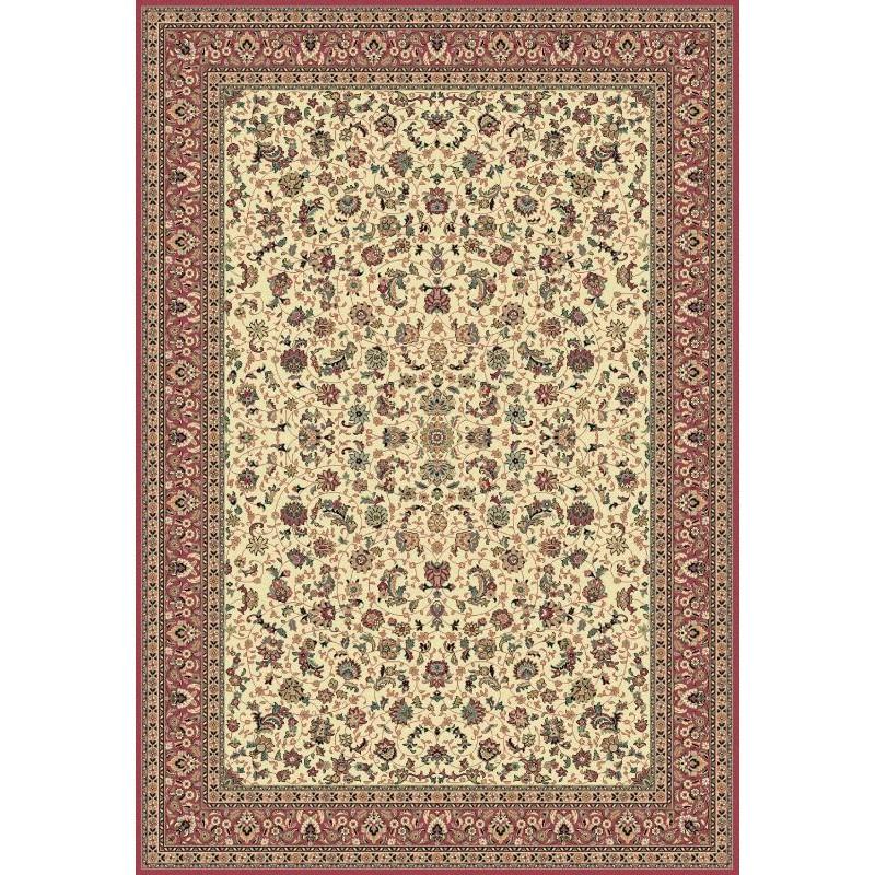 Tappeto persiano Tabriz classico floreale crema-rosa 12311