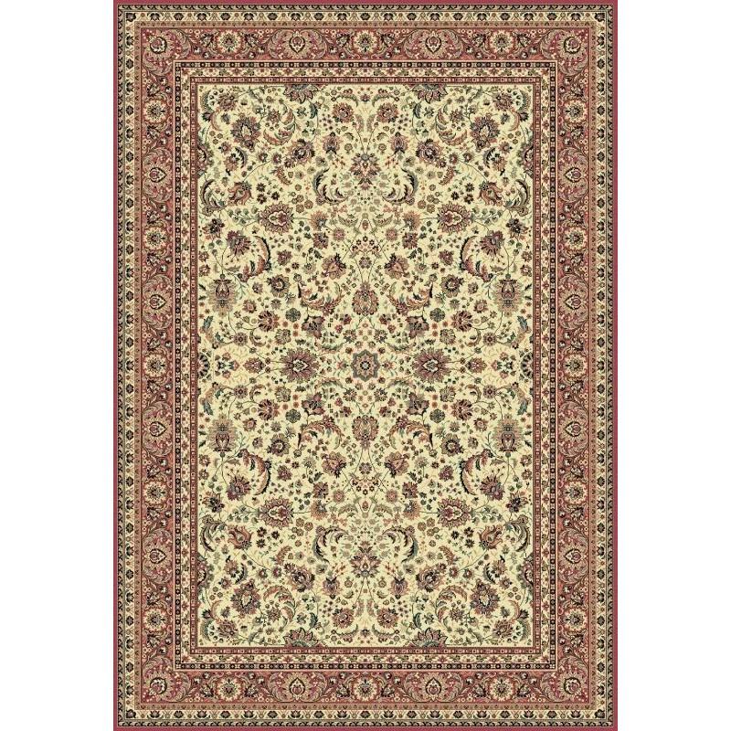 Tappeto persiano Tabriz classico floreale crema-rosa 13720