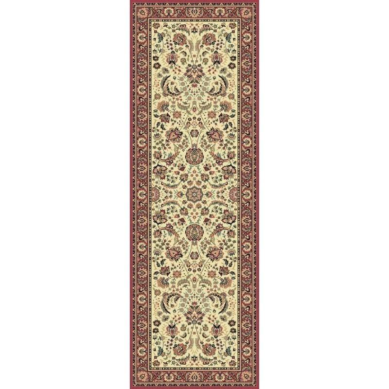 Tappeto persiano Tabriz classico passatoia floreale crema-rosa 13720