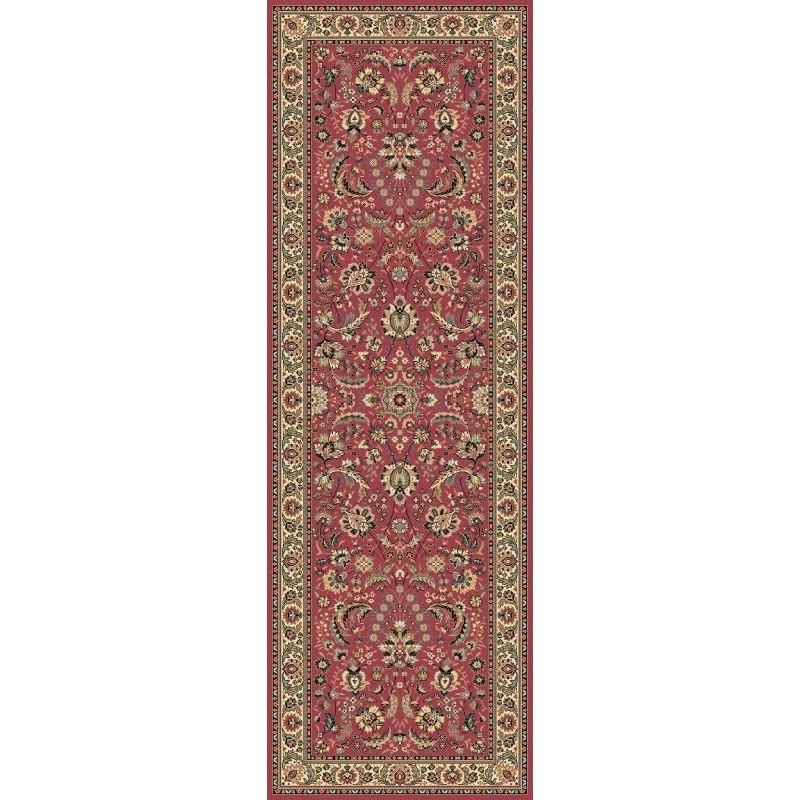 Tappeto persiano Tabriz classico passatoia floreale rosa 13720
