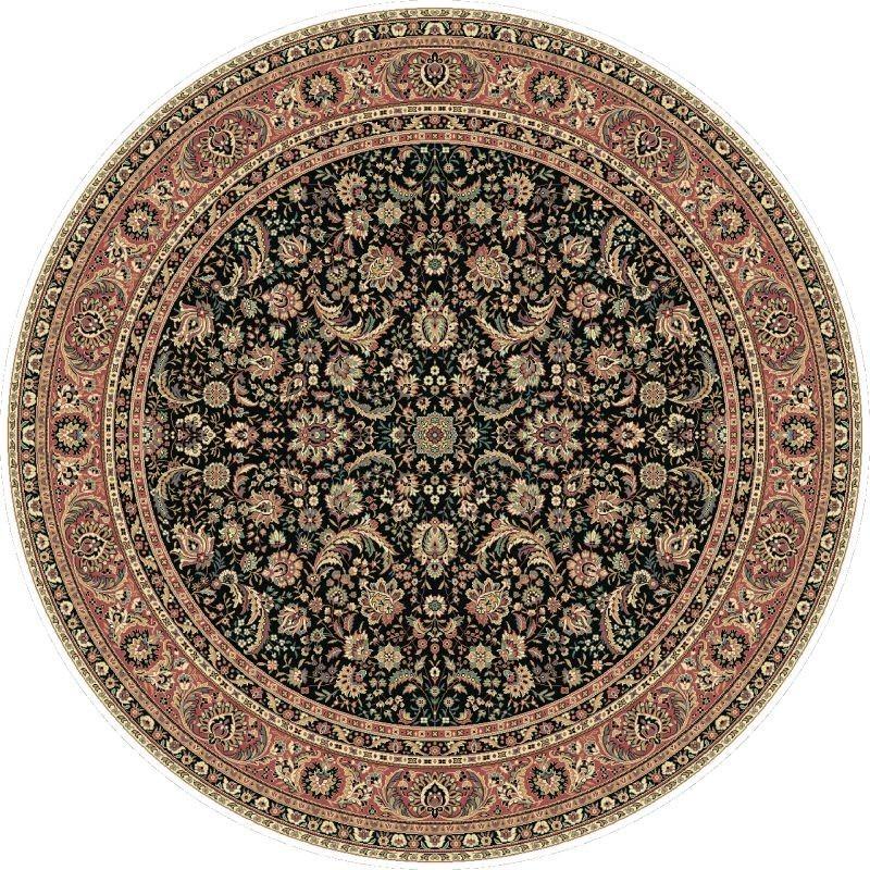 Carpet classico Tabriz classico rotondo floreale marine 13720