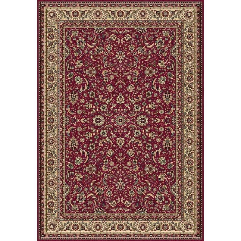 Tappeto persiano Tabriz classico floreale rosso 13720