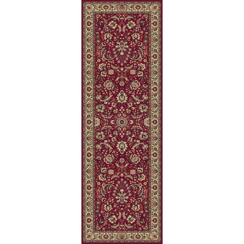 Tappeto persiano Tabriz classico passatoia floreale rosso 13720