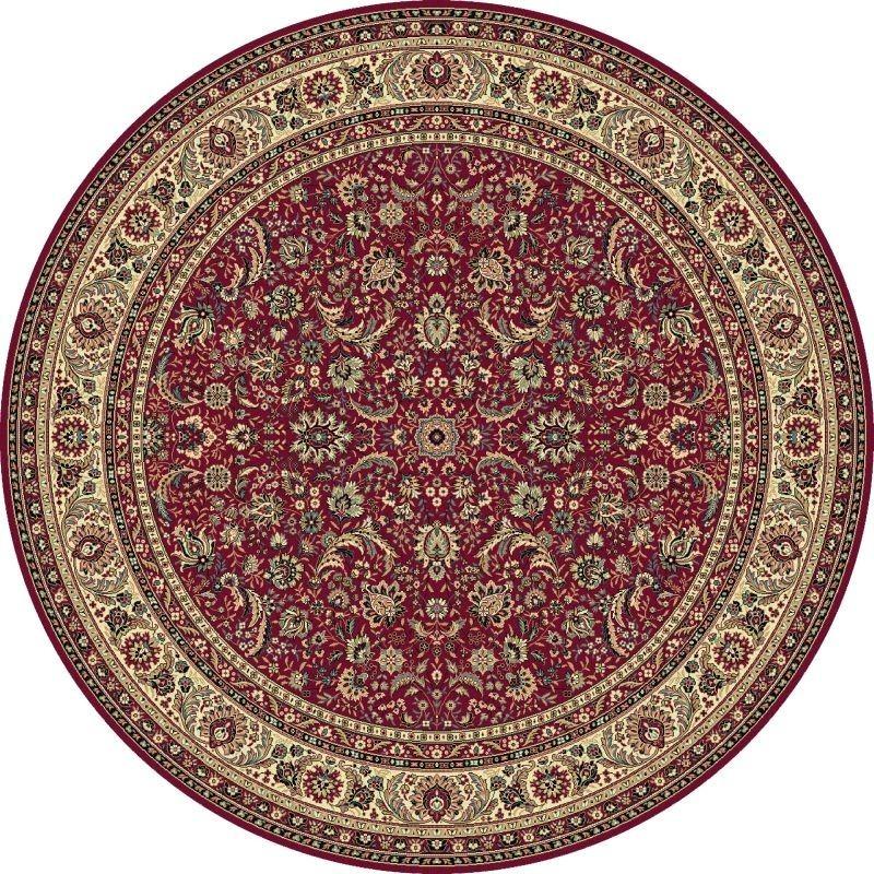Tappeto persiano Tabriz classico rotondo floreale rosso 13720