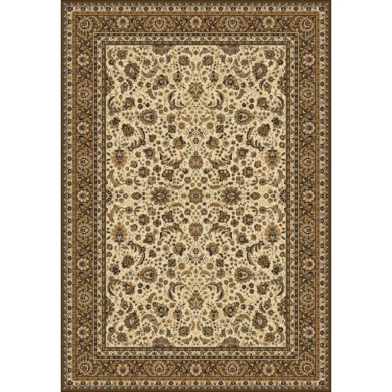 Tappeto persiano Tabriz classico floreale crema-marrone 13720