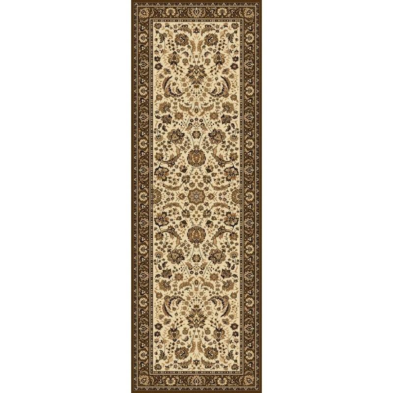 Carpet classico Tabriz classico passatoia floreale crema-marrone 13720