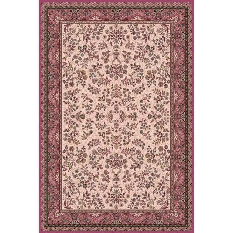 Carpet classico Isfahan lana crema-rosa 1236