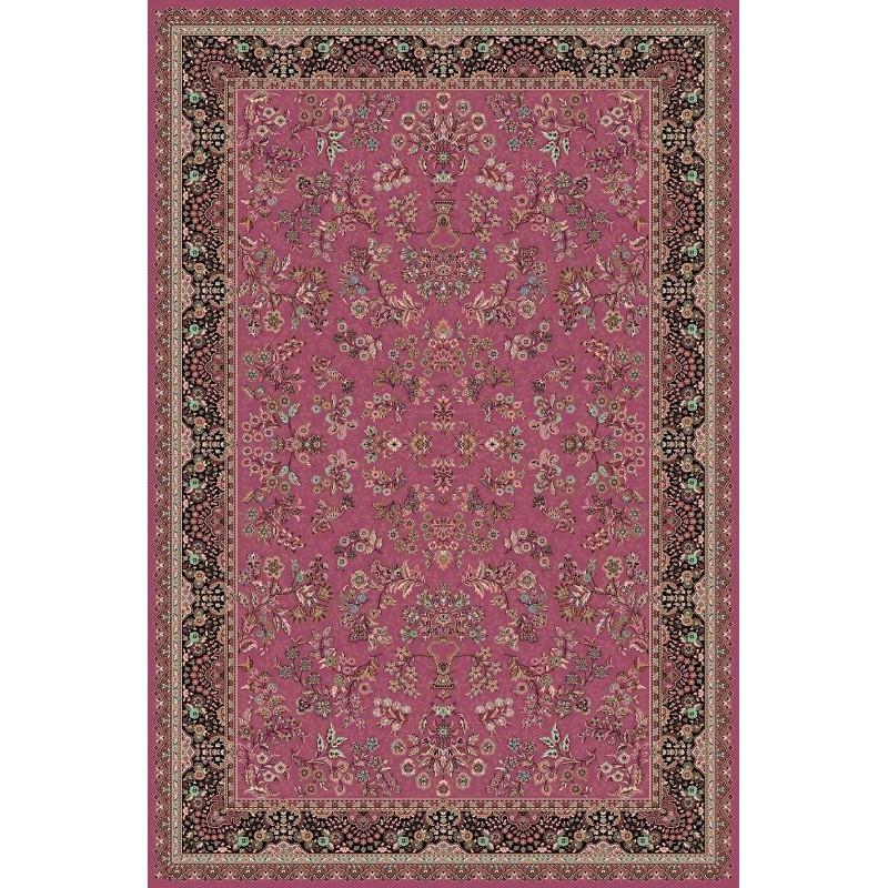Carpet classico Isfahan lana rosa 1236