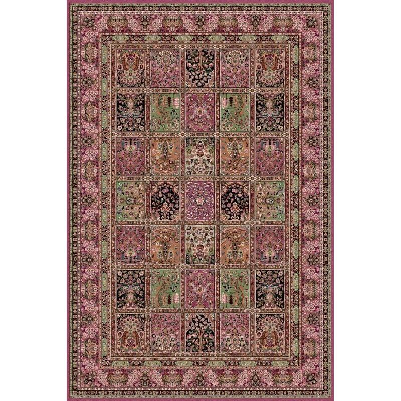 Carpet classico Qum formelle lana rosa 1258