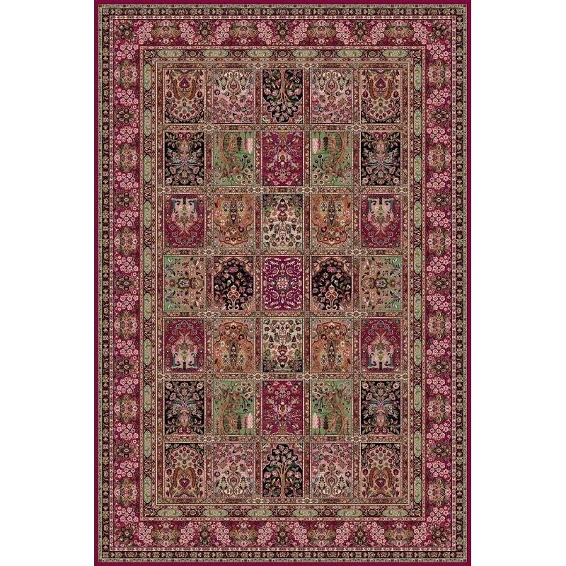 Tappeto persiano Qum formelle lana rosso 1258