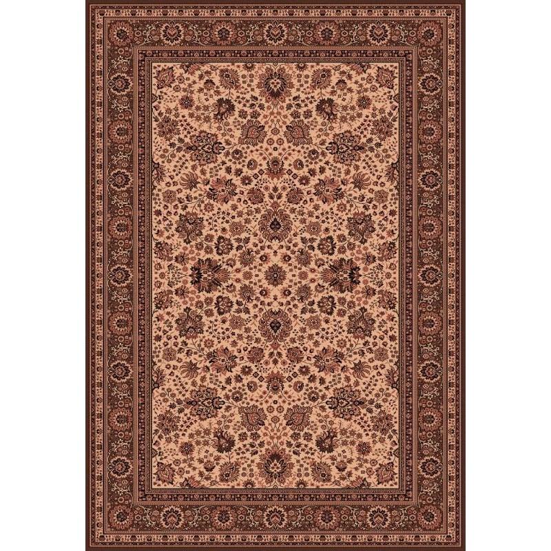 Carpet classico Tabriz fine lana crema-marrone 1561-504