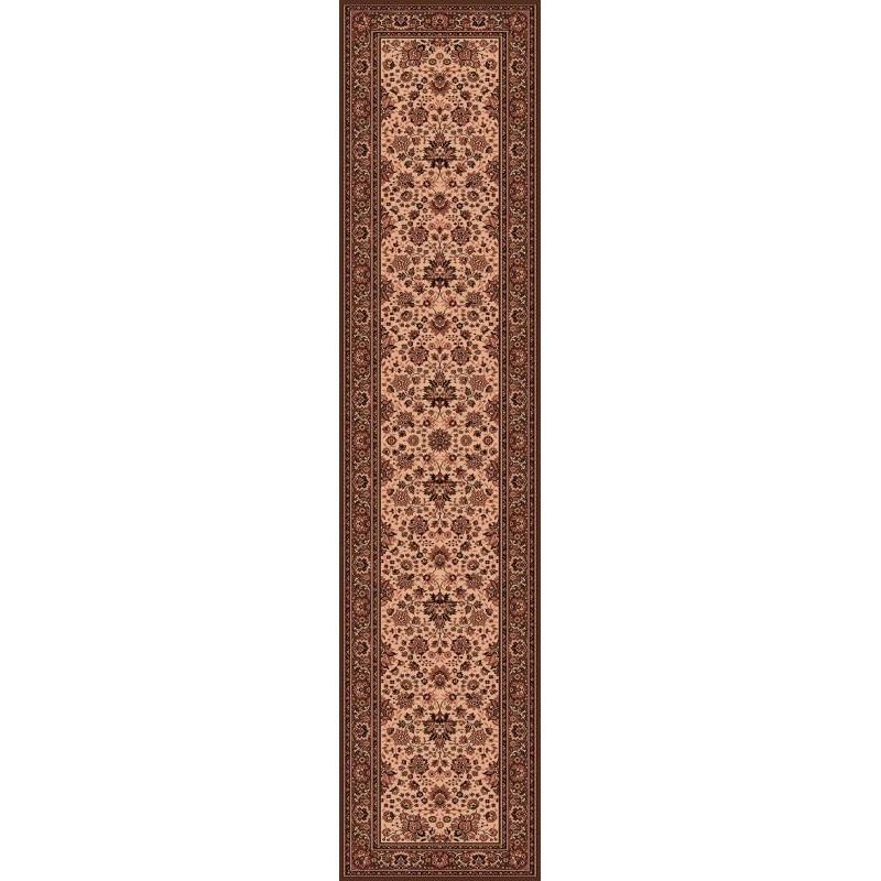 Carpet classico Tabriz fine lana passatoia crema-marrone 1561-504