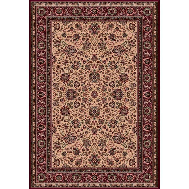 Carpet classico Tabriz fine lana beige-rosso 1561-505