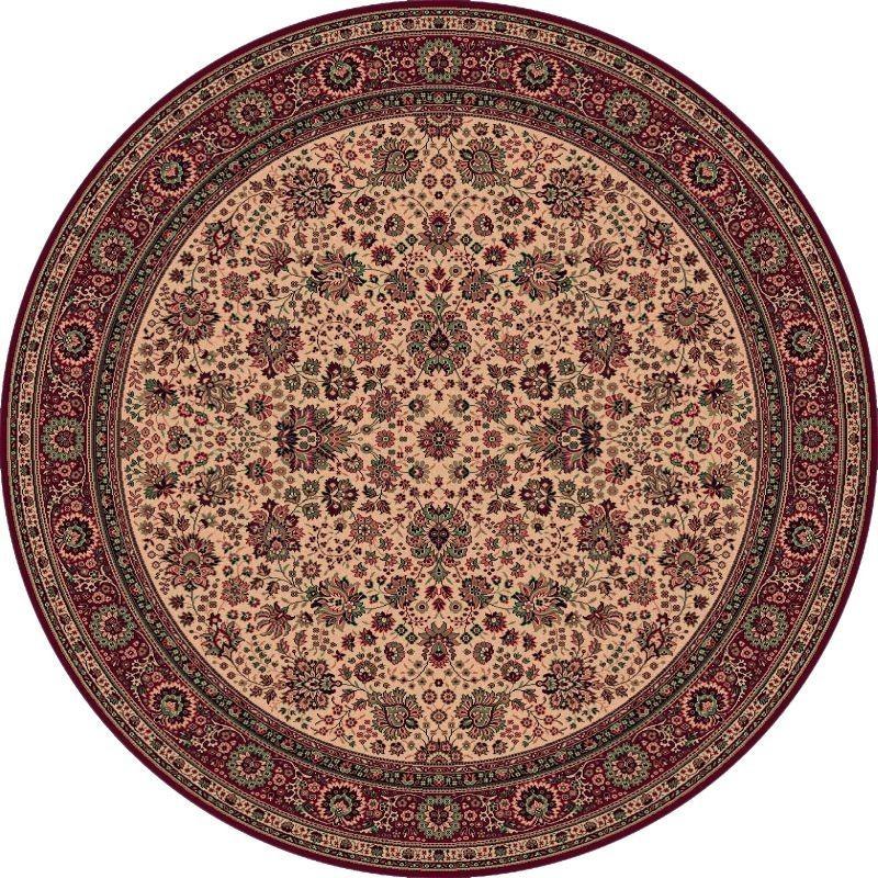 Carpet classico Tabriz fine lana rotondo beige-rosso 1570-505