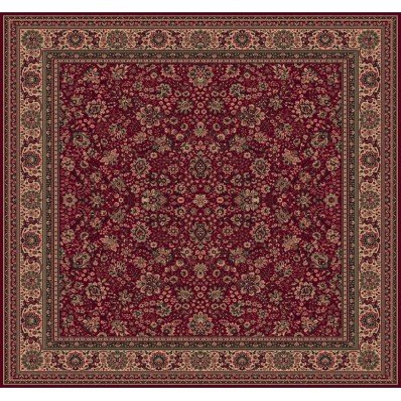 Carpet classico Tabriz fine lana quadrato rosso 1561-507