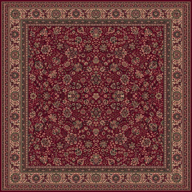 Tappeto persiano Tabriz fine lana quadrato rosso 1561-507