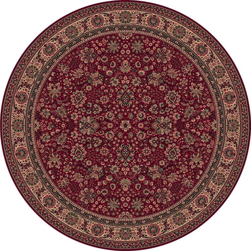 Tappeto persiano Tabriz fine lana rotondo rosso 1570-507