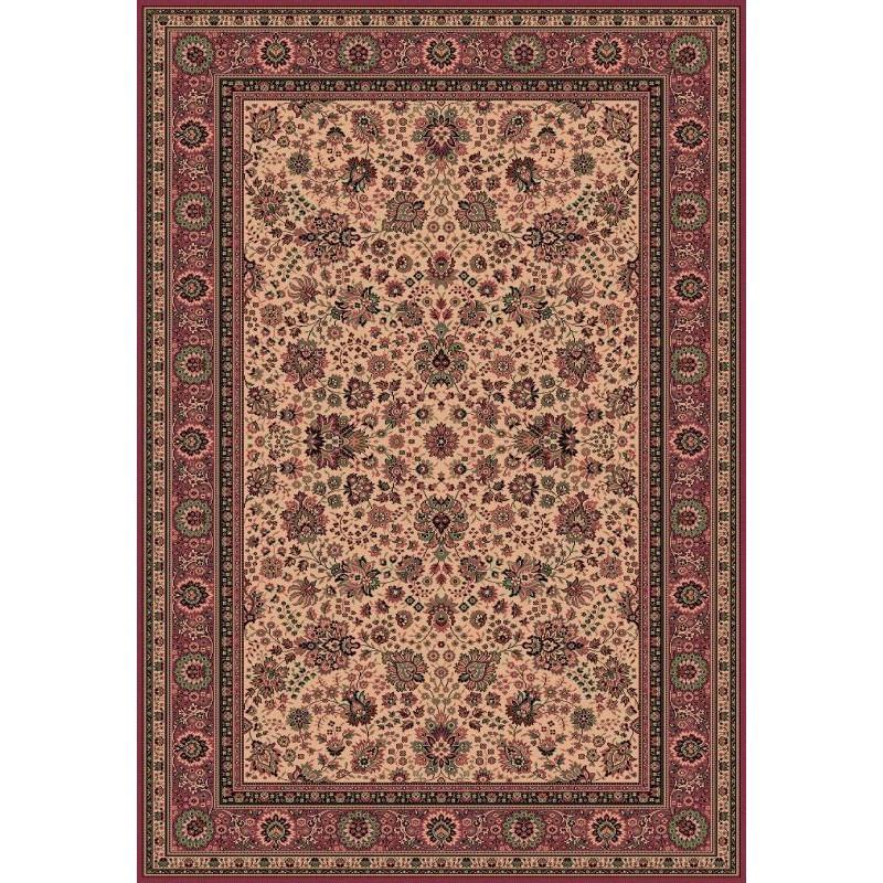 Carpet classico Tabriz fine lana crema-rosa 1561-515
