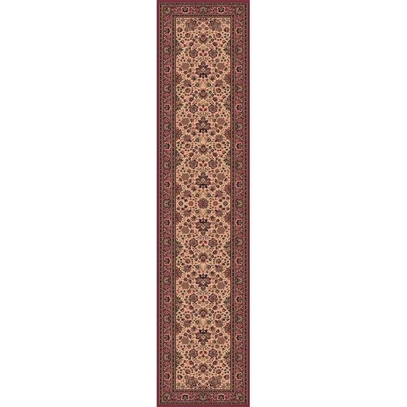 Carpet classico Tabriz fine lana passatoia crema-rosa 1561-515