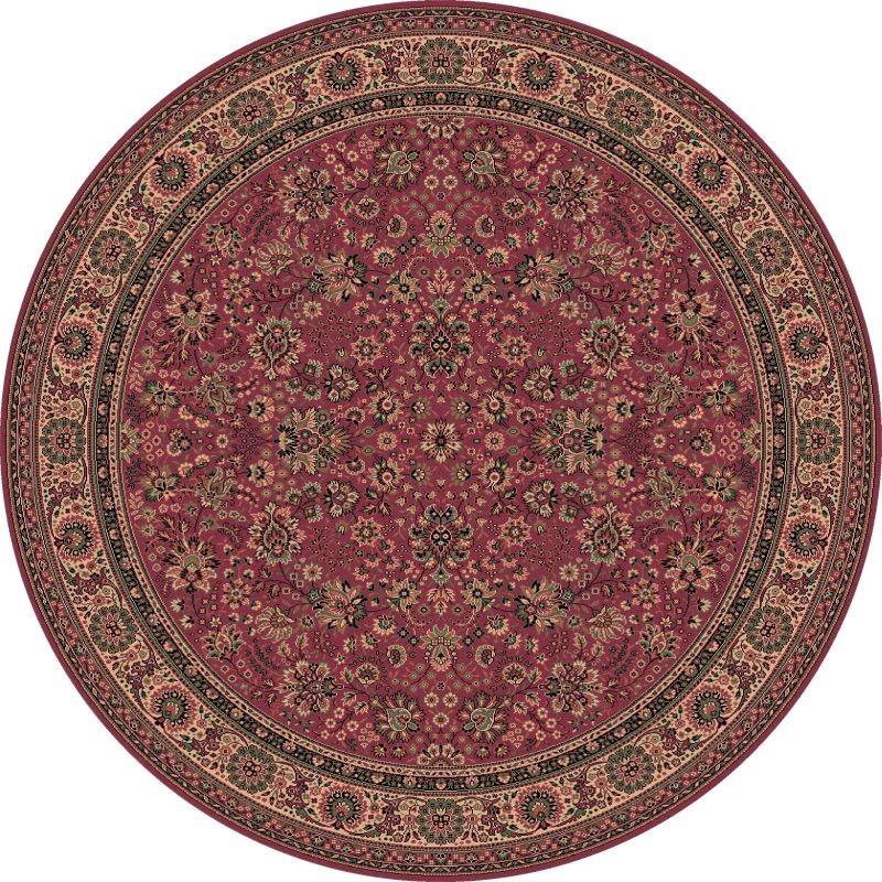 Carpet classico Tabriz fine lana rotondo rosa 1570-516