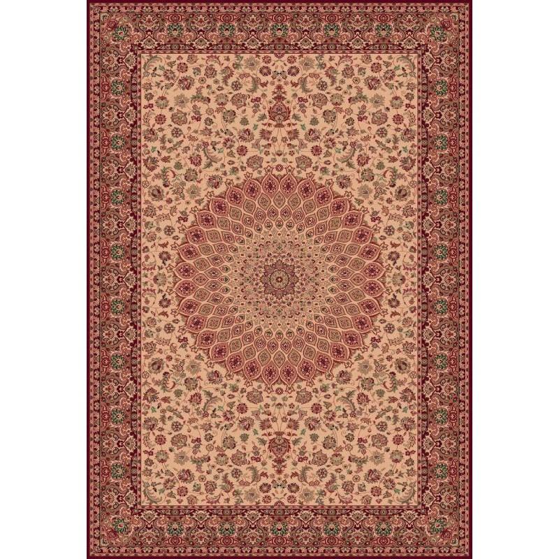 Tappeto persiano Qum fine lana crema-rosso 1639