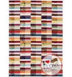 tappeto design Deco Multi con cuscino gemello multicolor