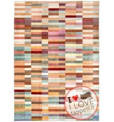 tappeto design Verve Ve01 Blocks con cuscino gemello multicolor