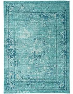 tappeto design Verve Ve10 Medallion Blue con cuscino gemello blu/azzurro