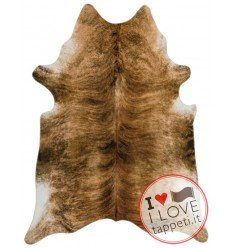 tappeto in pelle Texas Faux Cowhide Brown giallo/oro/rame/mattone